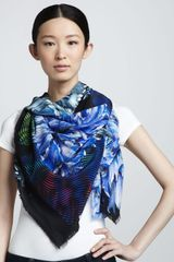 Peter Pilotto Carnation Print Silk Scarf - Lyst