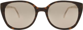 Prism Matte Cream Rectangle Sunglasses - Lyst