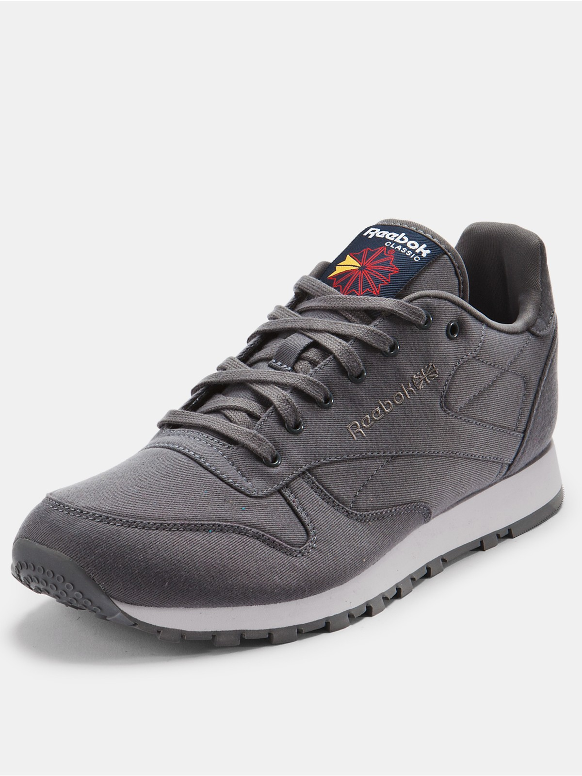 reebok classic textile mens trainers grey in gray for men