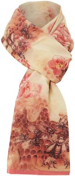 Ted Baker Busy Bee Print Long Scarf - Lyst