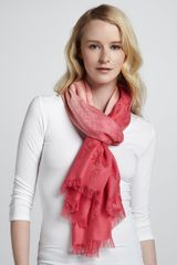 Tory Burch Dipdye Allover Logoprint Scarf - Lyst