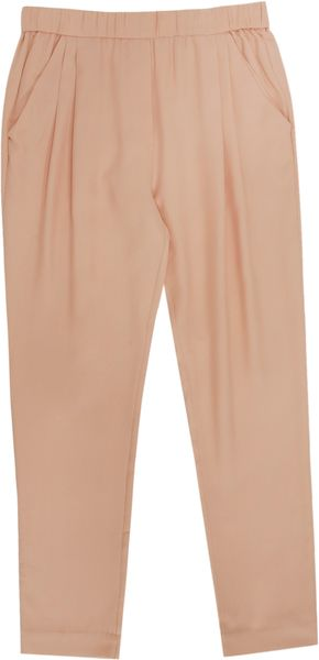 3.1 Phillip Lim Silk Tapered Trousers - Lyst