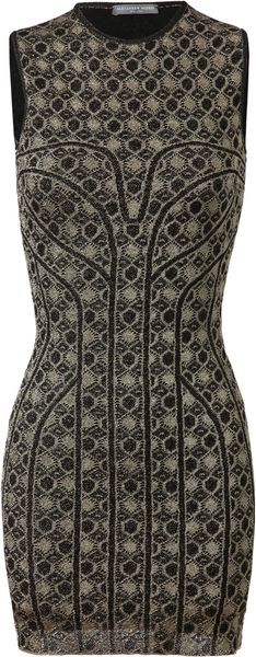 Alexander McQueen Honeycomb Patterned Stretchknit Dress - Lyst