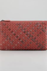 Bottega Veneta Extra Large Snakeprint Flat Cosmetic Bag - Lyst