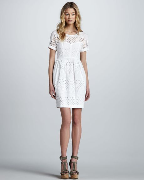 Cool White Eyelet Dress  7 Back To School Dresses That Will Make A