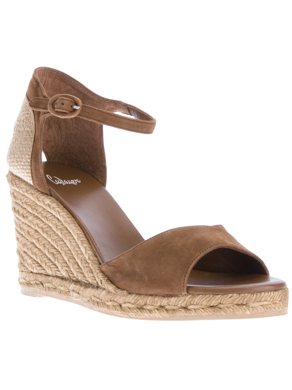 bd62ccf1594 Castaner Balbina Sandal Wedge in Brown - Lyst