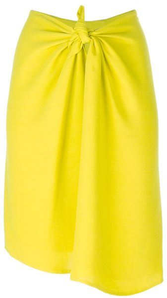 Christian Wijnants Knotted Detail Skirt - Lyst