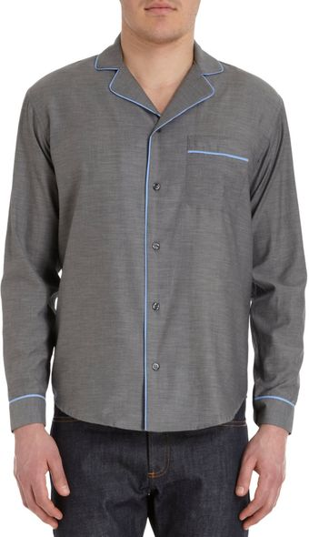 Barneys New York Co-op Pajama Shirt - Lyst