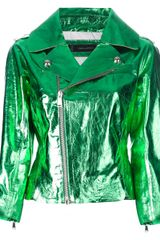 DSquared2 Metallic Leather Jacket - Lyst