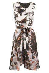 Edun Jungle Print Silk Dress - Lyst