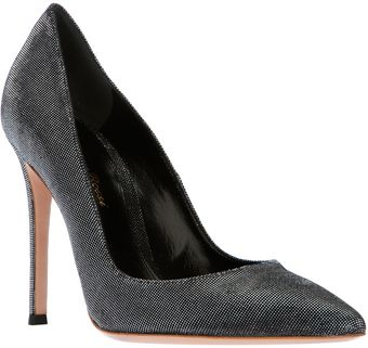 Gianvito Rossi Black and Shine Pump - Lyst