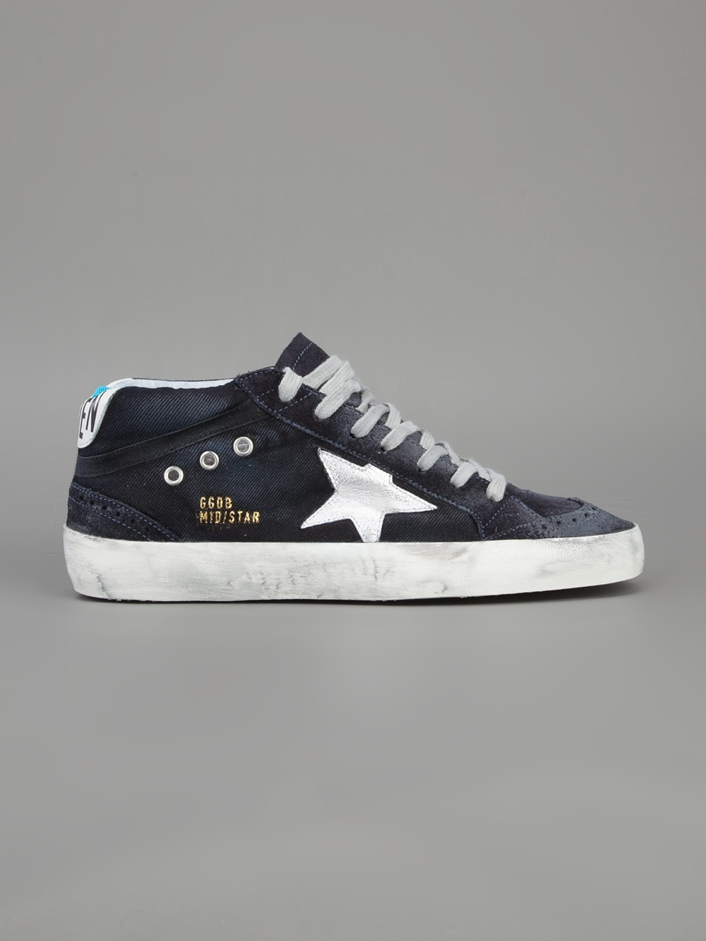 f2773e1e8b11 Lyst - Golden Goose Deluxe Brand Mid Star Sneaker in Blue for Men