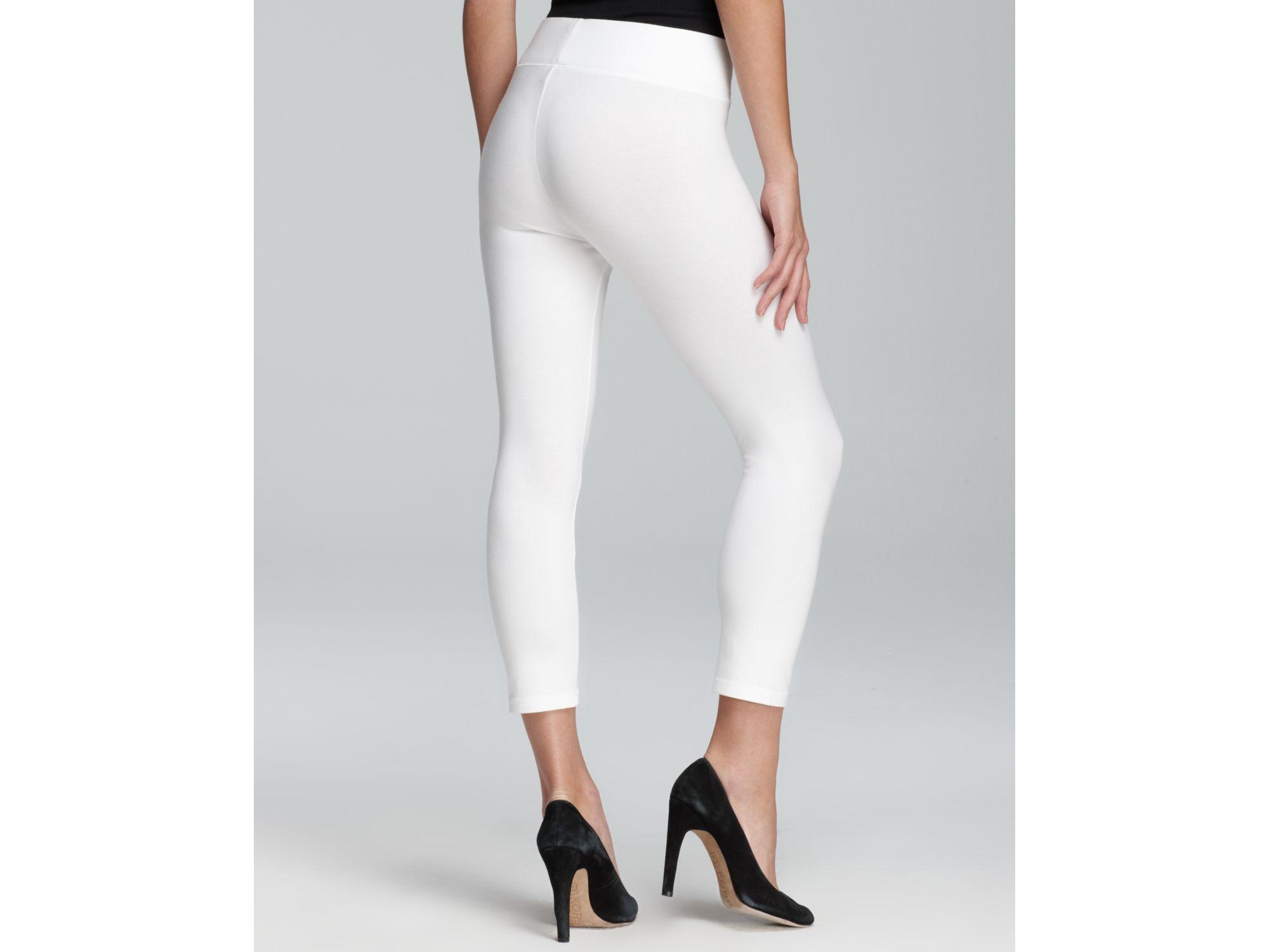 Hue Ultra Capri Leggings in White | Lyst
