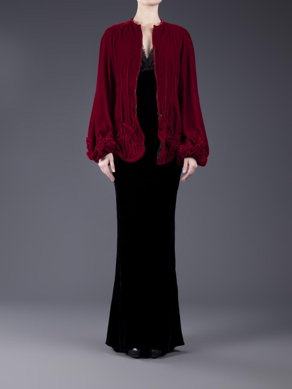 Jean Paul Gaultier Velvet Jacket In Red Lyst