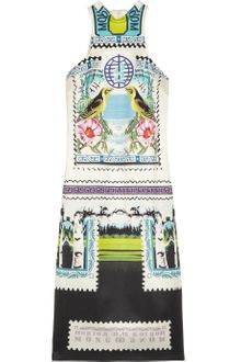Mary Katrantzou Rodizio Printed Silktwill Dress - Lyst