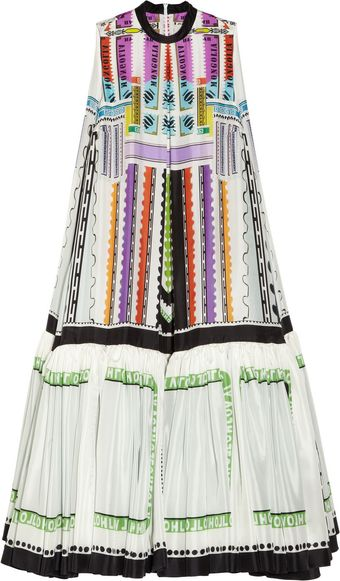 Mary Katrantzou Ziggy Printed Silkhabotai Dress - Lyst