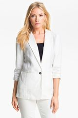 Michael by Michael Kors Shirred Sleeve Jacket - Lyst