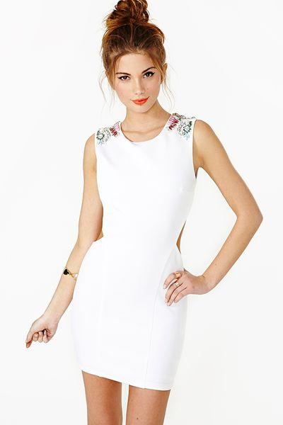 Sky Dress in White Sky