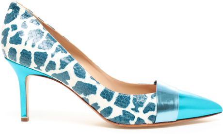 Nicholas Kirkwood Python and Patent Leather Pumps in Blue - Lyst