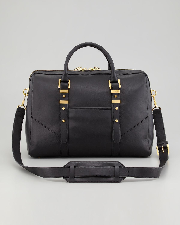 Rachel zoe Lee Large Satchel Bag Black in Black | Lyst