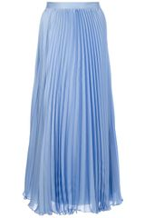 Ralph Lauren Blue Label Pleated Maxi Skirt - Lyst