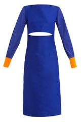 Roksanda Ilincic Auster Lapis Fitted Dress - Lyst