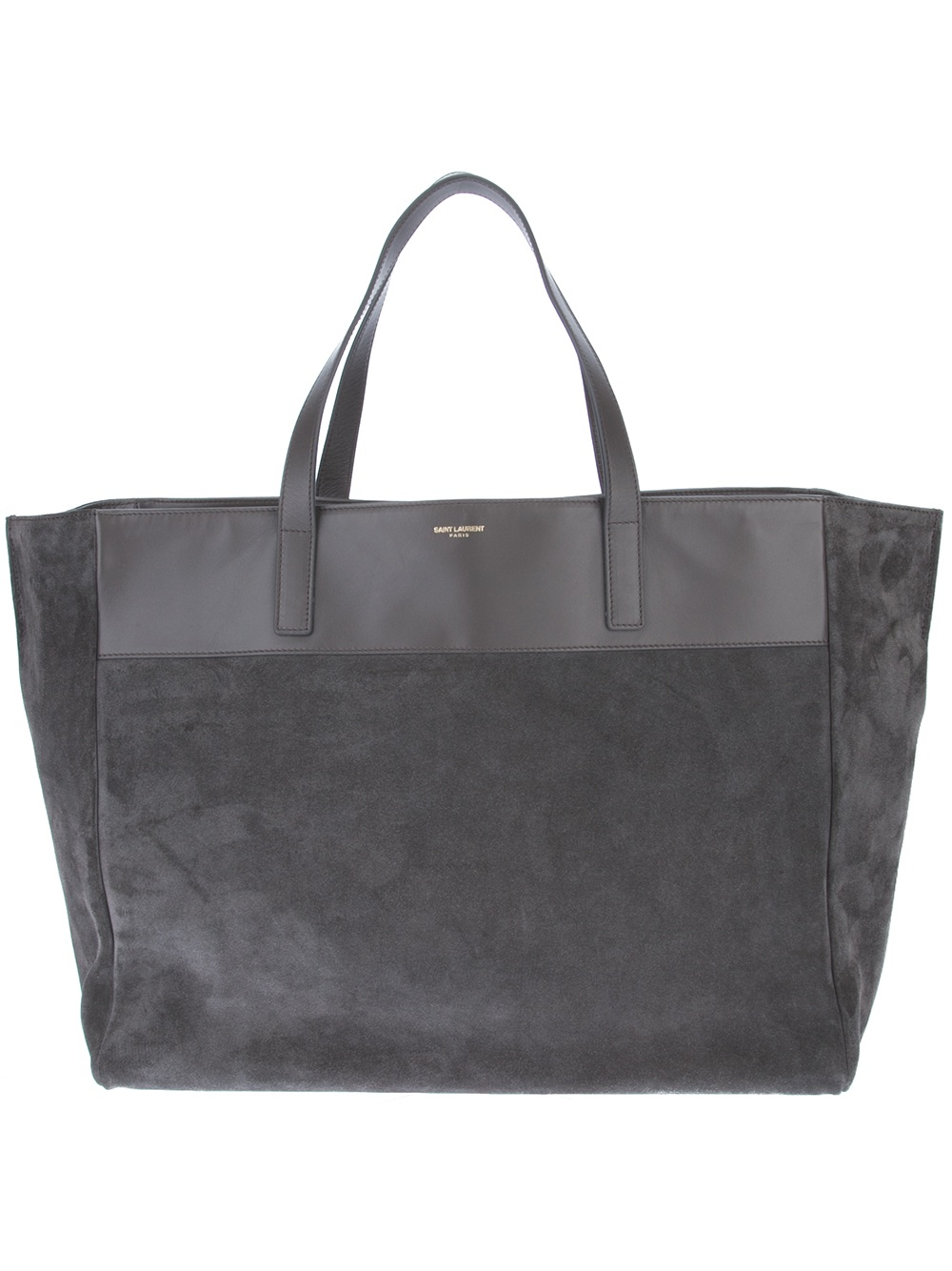 saint laurent reversible shopper tote in gray grey lyst. Black Bedroom Furniture Sets. Home Design Ideas