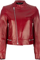 Saint Laurent Leather Biker Jacket - Lyst