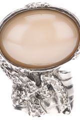 Saint Laurent Arty Cocktail Ring - Lyst