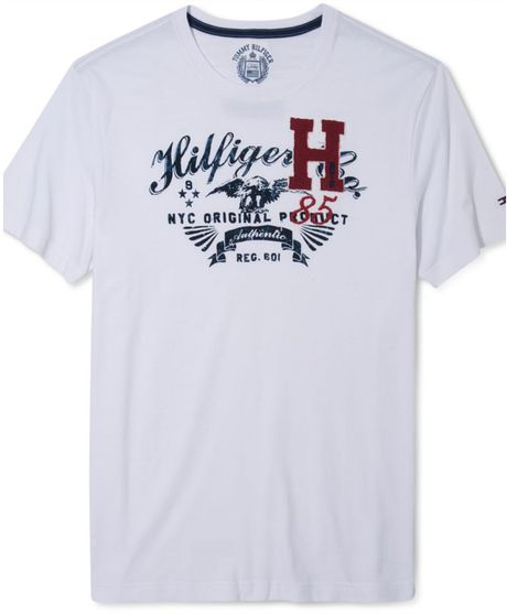 tommy hilfiger magoo graphic t shirt in white for men lyst. Black Bedroom Furniture Sets. Home Design Ideas
