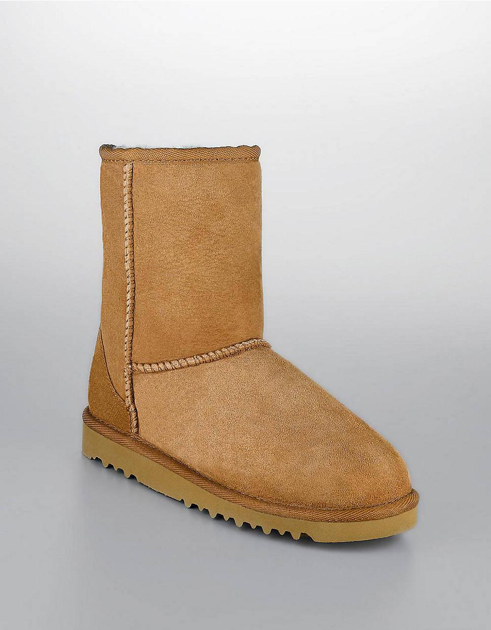 ugg kids classic short sheepskin boots in brown for men. Black Bedroom Furniture Sets. Home Design Ideas