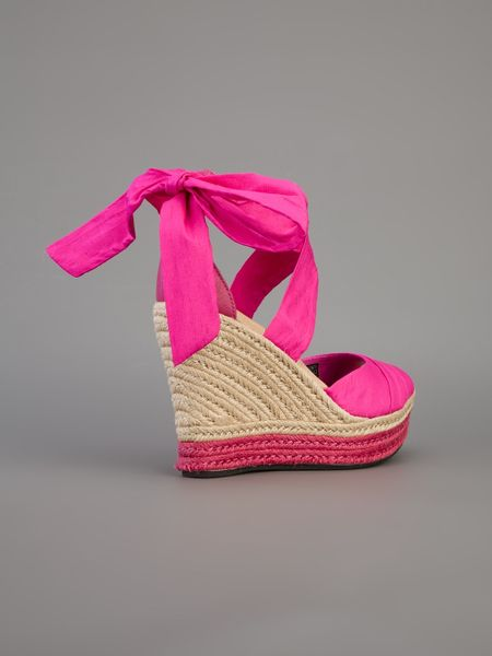 Ugg Lucianna Wedge Sandal In Pink Lyst