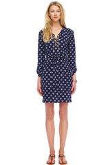 Michael by Michael Kors Diamond-Print Dress - Lyst