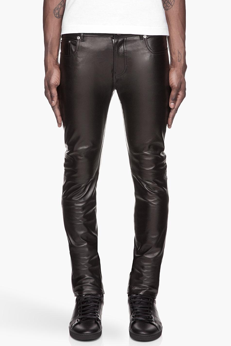 Pantalon En Daim Maigre - Vert Saint Laurent gOpq6dc