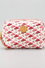 Tory Burch Brigitte Flamingo Cosmetic Case - Lyst