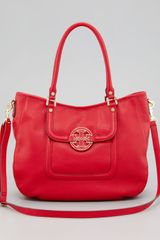 Tory Burch Amanda Classic Hobo Bag Red - Lyst
