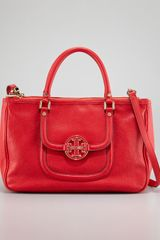 Tory Burch Amanda Doublezip Tote Bag Red - Lyst