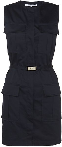 Victoria, Victoria Beckham Four Pocket Cottonsateen Dress - Lyst
