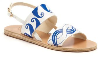 Ancient Greek Sandals White Blue Calypso Sandal - Lyst