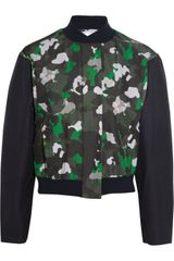 Camilla & Marc Printed Silk and Cottonblend Bomber Jacket - Lyst