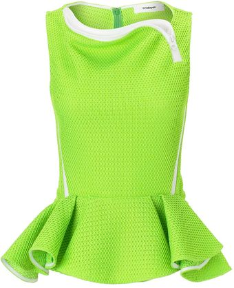 Chalayan Pop Lime 3d Peplum Top - Lyst