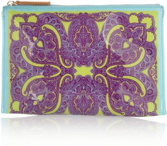Etro Printed Coated Pvc Cosmetics Case - Lyst