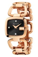 Gucci Womens G Square Diamond Set Dial Bracelet Watch - Lyst