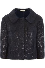 Nina Ricci Sequined Wool blend Jacket - Lyst