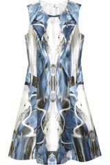 Prabal Gurung Printed Wool and Cottonblend Sateen Dress - Lyst