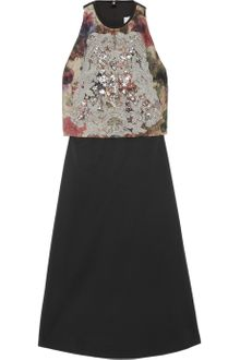 Preen Eve Embellished Stretchtwill Dress - Lyst
