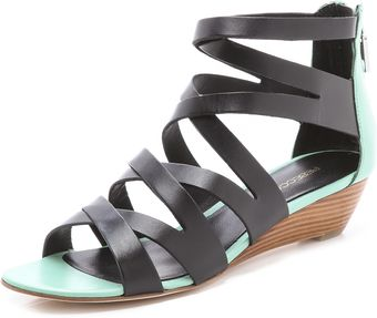 Rebecca Minkoff Bonnie Strappy Wedge Sandals - Lyst