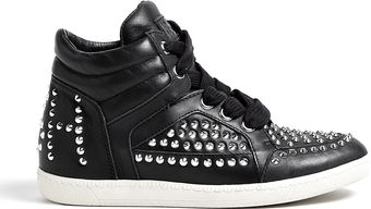 Ash Black Zest Studded Trainers - Lyst