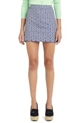 Brooks Brothers Chambray Eyelet Skirt - Lyst
