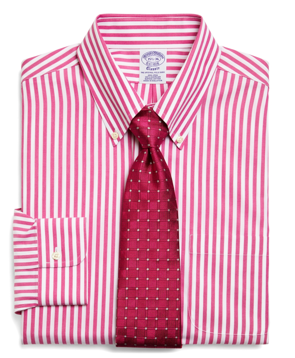 Brooks brothers supima cotton noniron extraslim fit wide for Supima cotton dress shirts